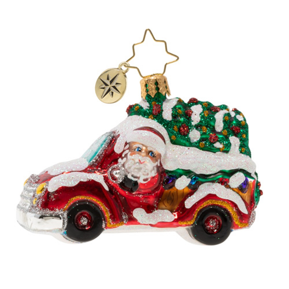 Christopher Radko Glass Ornament - Gem - Christmas Tree Delivery 2020