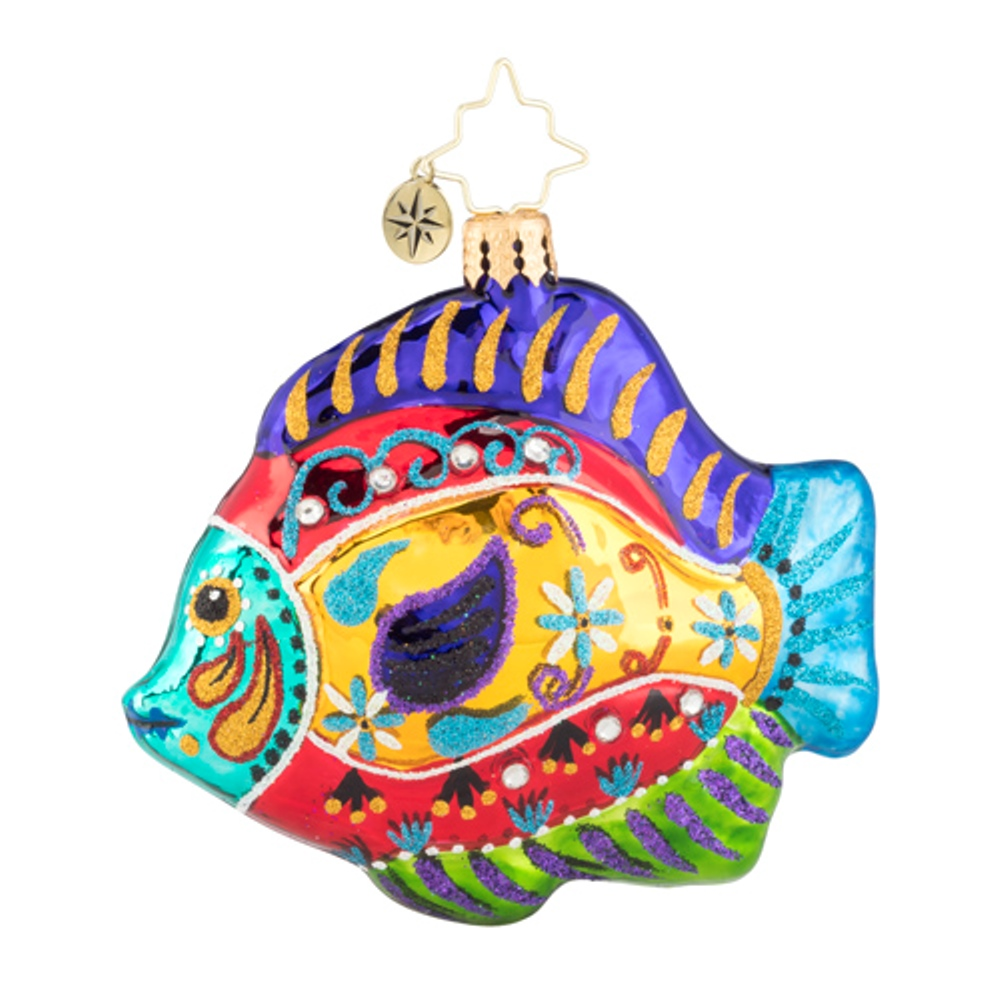 Christopher Radko Glass Ornament Gem - Fabulously Fishy 2019