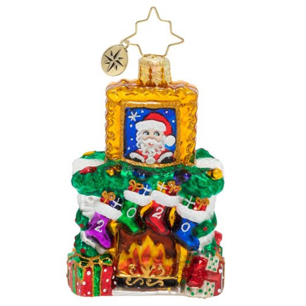 Christopher Radko Glass Ornament - Gem - Fireside Christmas 2020