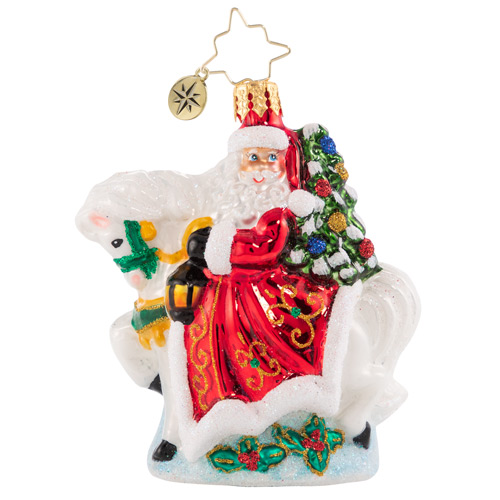 Christopher Radko Glass Ornament - Gem - Galloping Into Christmas 2021