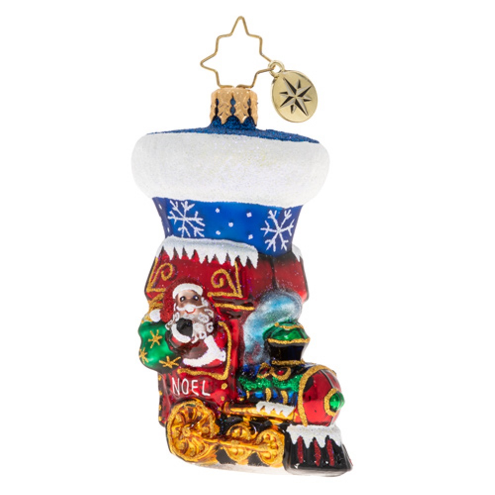 Christopher Radko Glass Ornament - Gem - Noel Express Stocking 2020