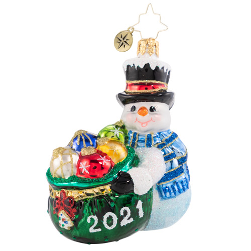 Christopher Radko Glass Ornament - Gem - One Proud Collector 2021