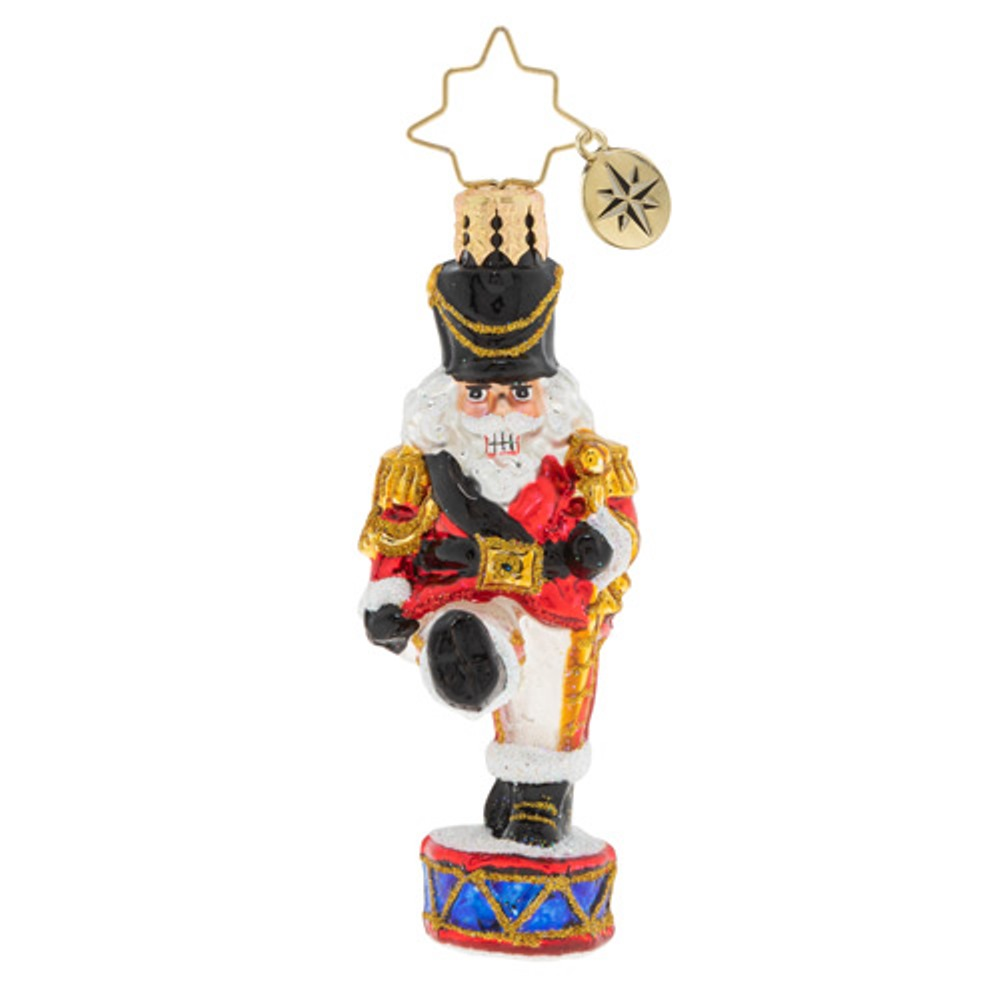 Christopher Radko Glass Ornament - Gem - Parading Nutcracker 2020