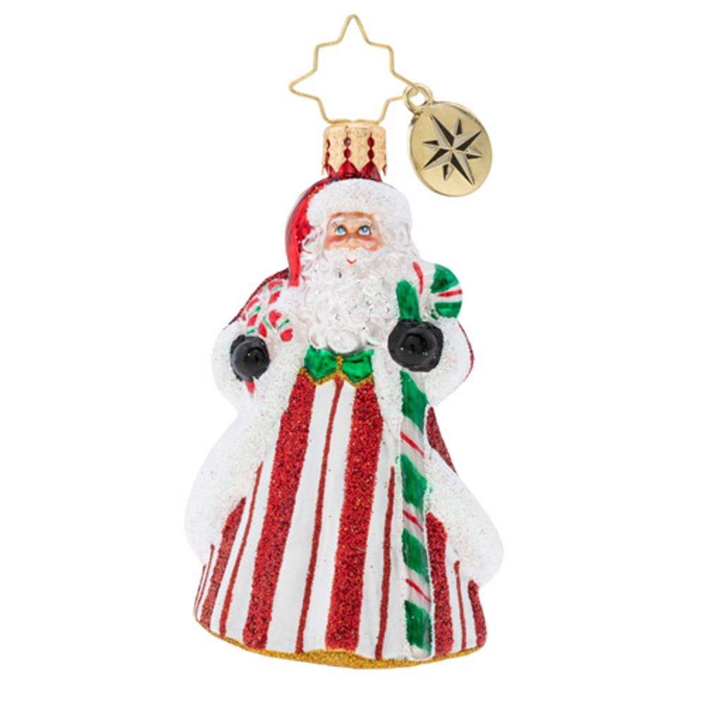 Christopher Radko Glass Ornament Gem - Peppermint Candle Kringle 2019