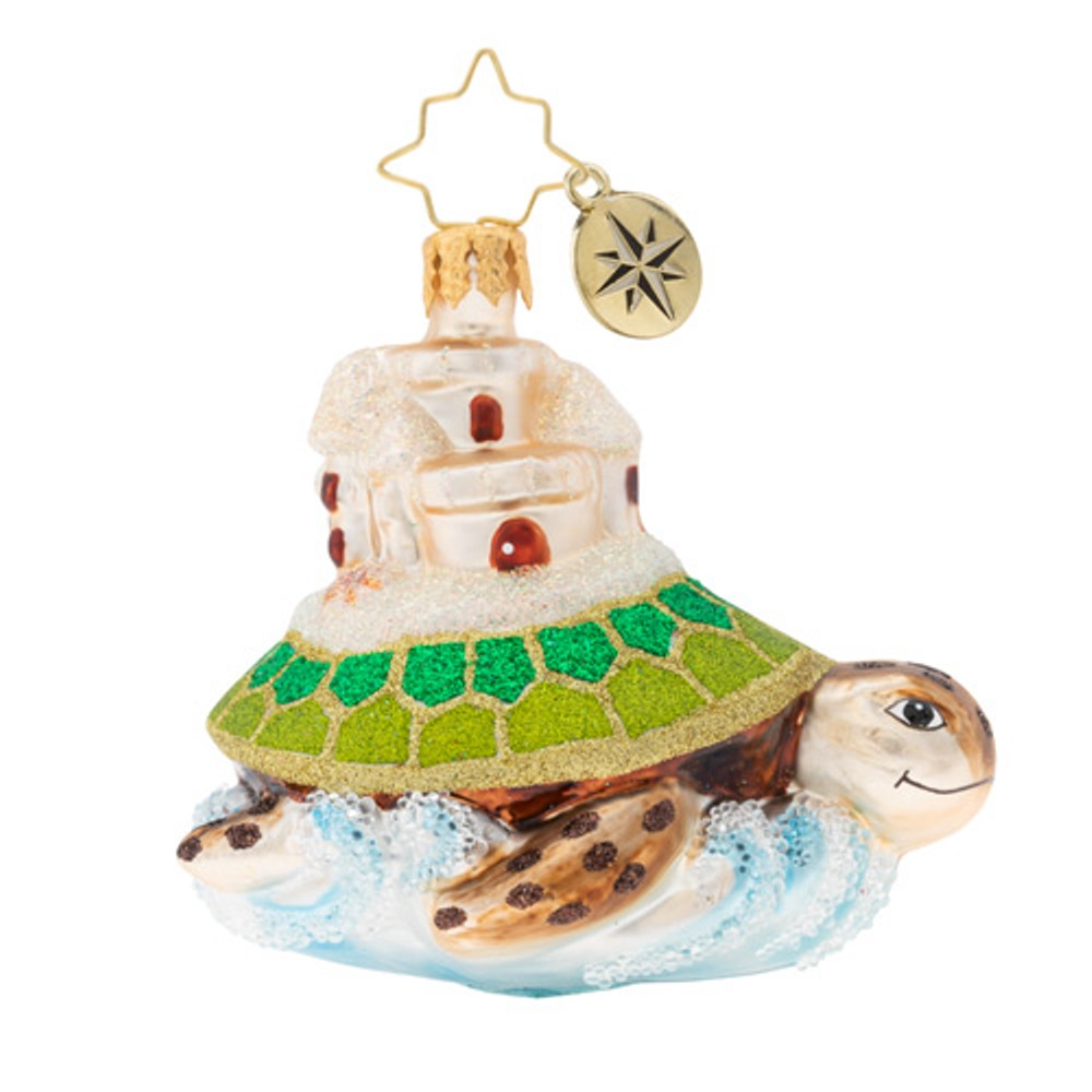 Christopher Radko Glass Ornament Gem - Sea And Castle 2019