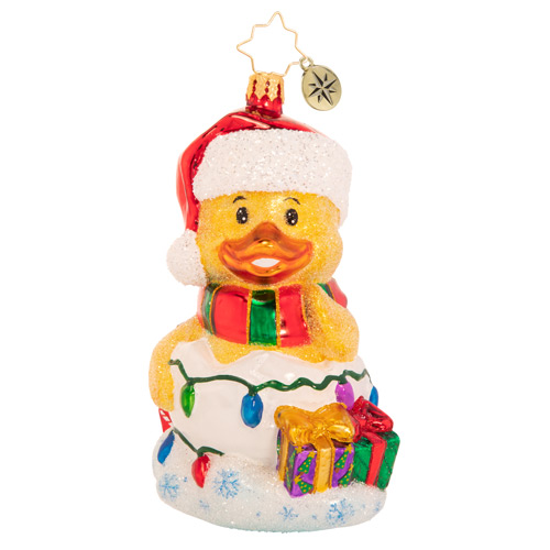 Christopher Radko Glass Ornament - Gone Quackers For Christmas 2021
