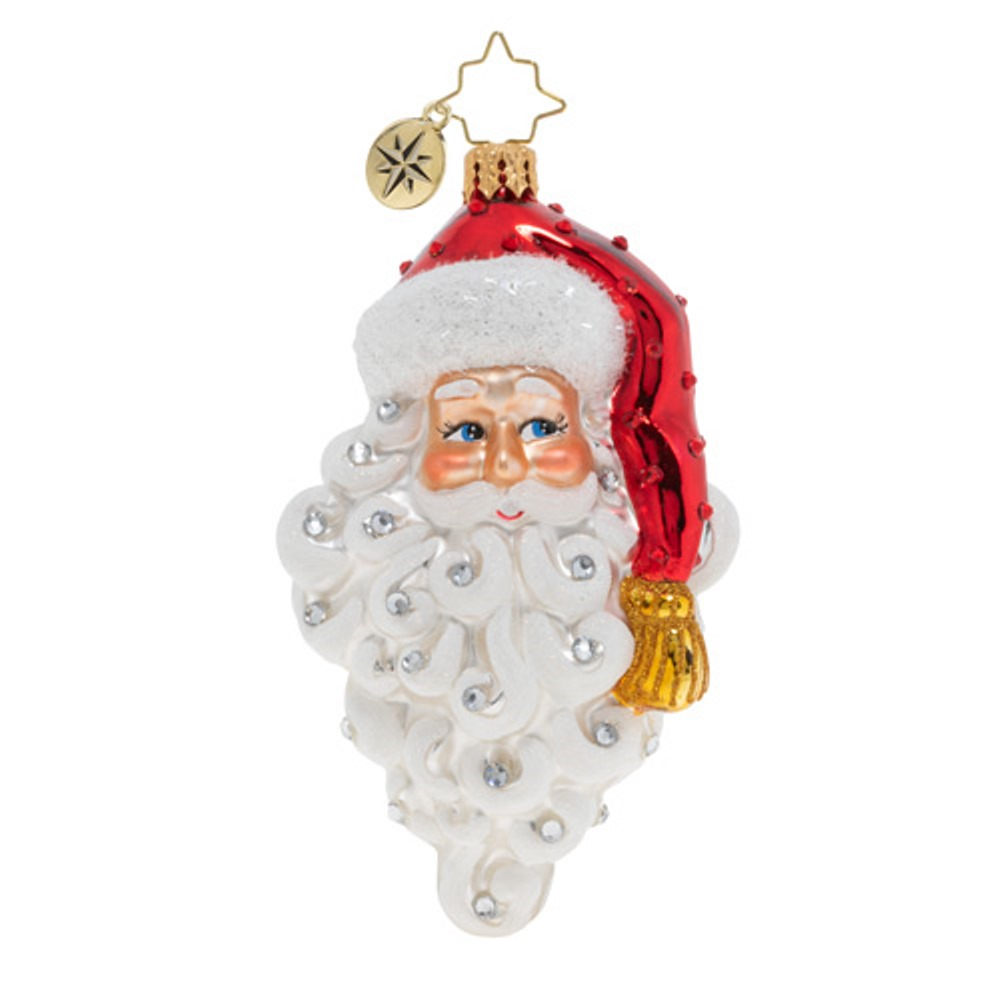 Christopher Radko Glass Ornament - Grinning Santa 2019