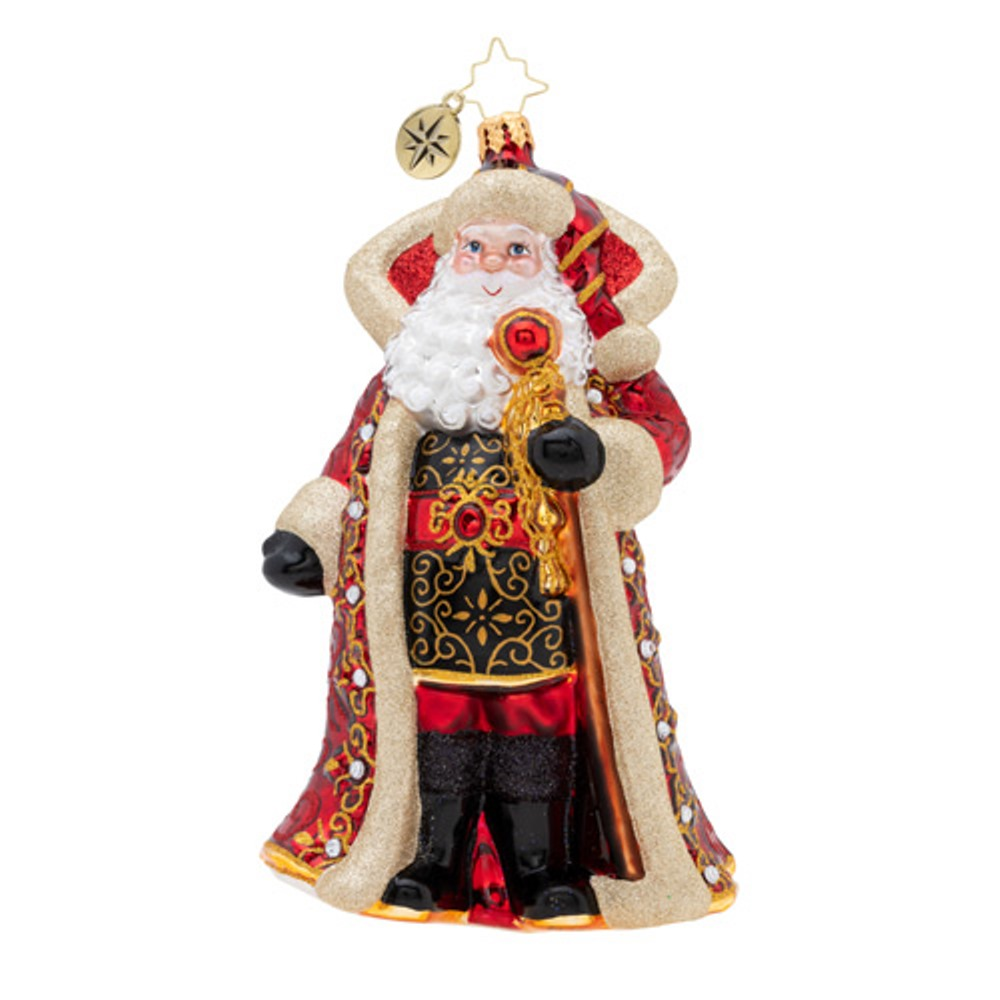 Christopher Radko Glass Ornament - Illustrious Santa 2019