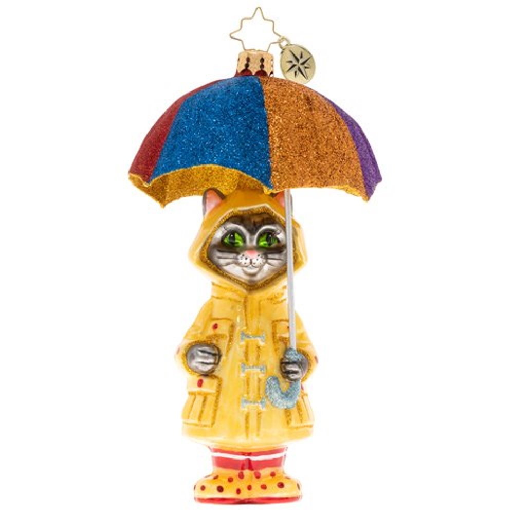 Christopher Radko Glass Ornament - It's Raining Cats 2020