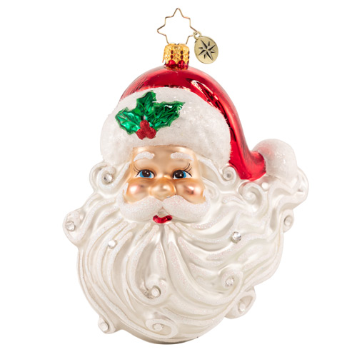 Christopher Radko Glass Ornament - Jolly With A Dash Of Holly 2021