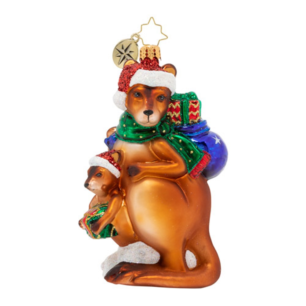 Christopher Radko Glass Ornament - Kangaroo Kristmas 2020