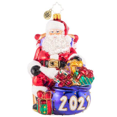 Christopher Radko Glass Ornament - Kick Back And Relax 2021