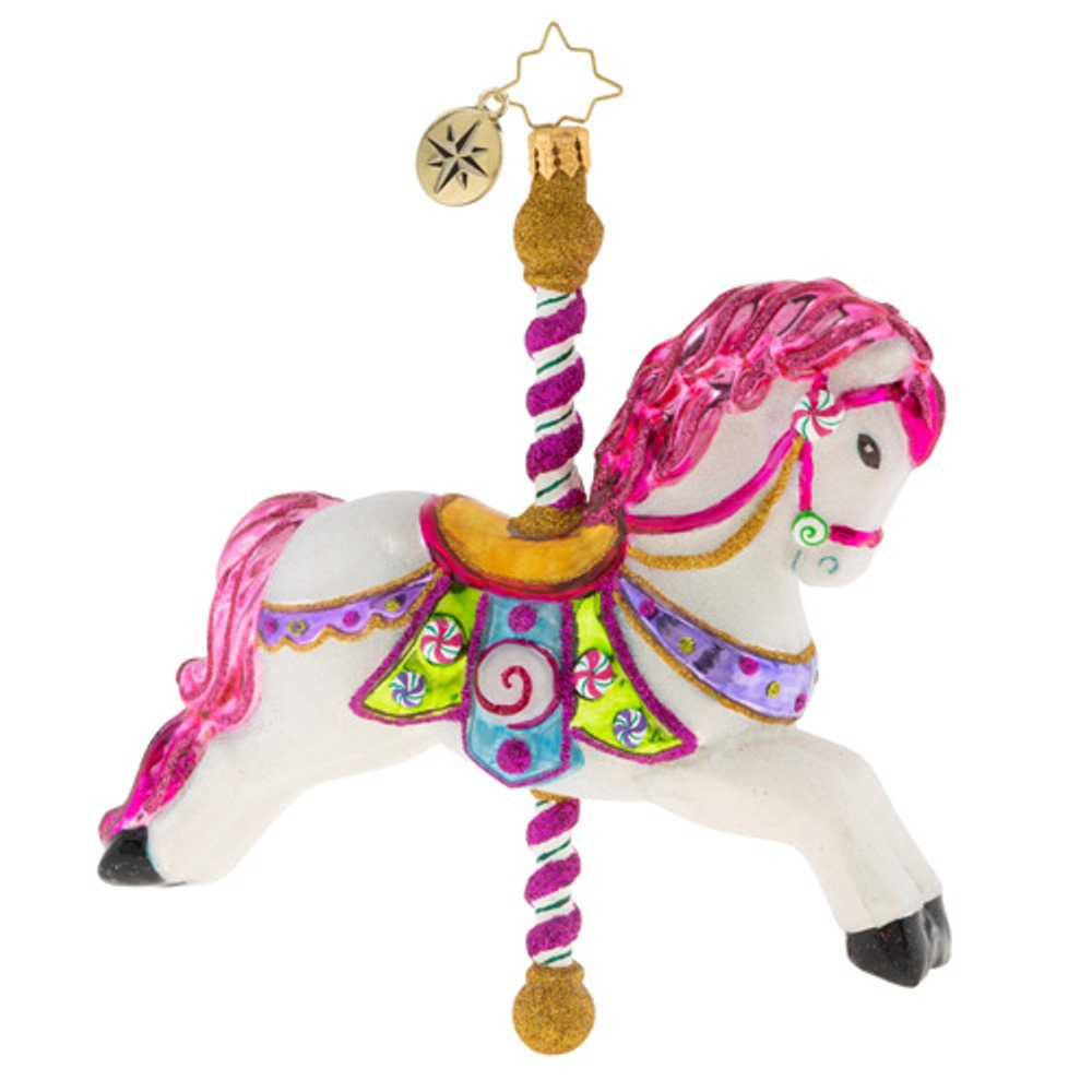 Christopher Radko Glass Ornament - Leader of the Merry-Go-Round 2019