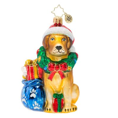 Christopher Radko Glass Ornament - Noble Yellow Lab 2019