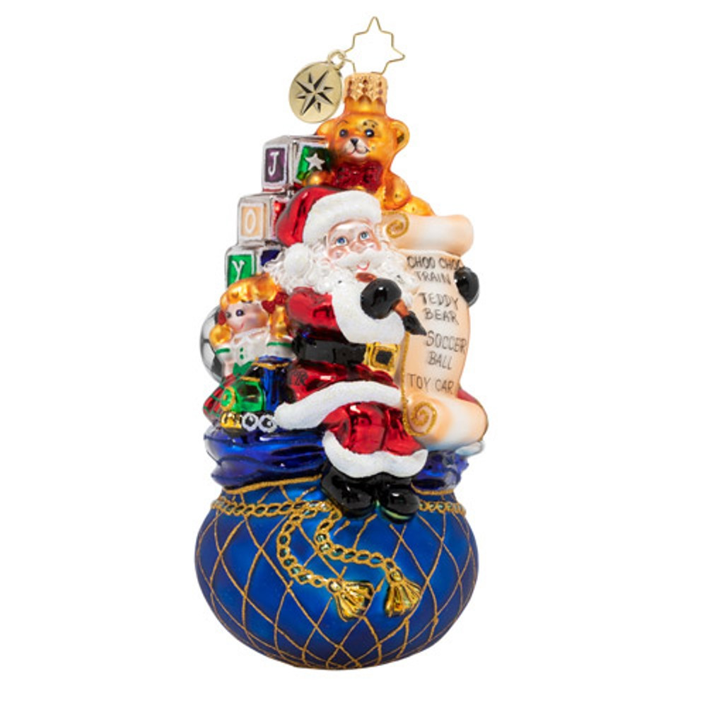 Christopher Radko Glass Ornament - One Last Check 2020