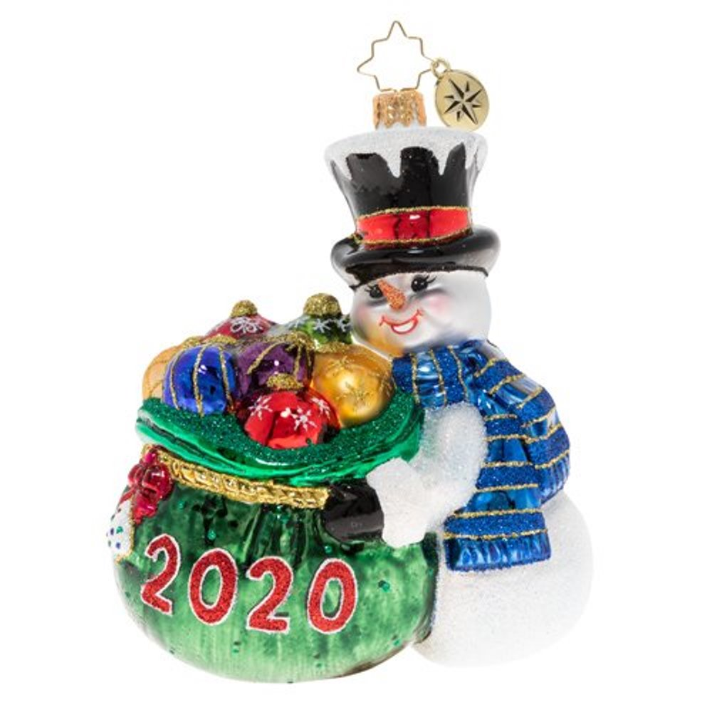 Christopher Radko Glass Ornament - One Proud Collector 2020