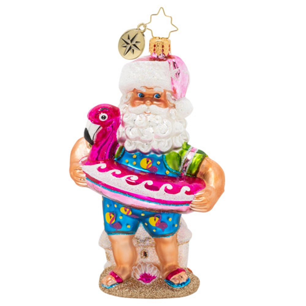 Christopher Radko Glass Ornament - Out Of Office Santa 2020