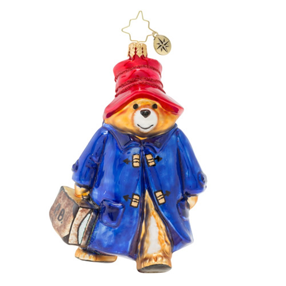 Christopher Radko Glass Ornament - Paddington Bear 2019