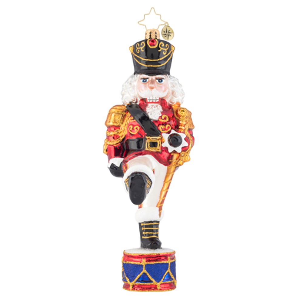 Christopher Radko Glass Ornament - Parading Nutcracker 2019