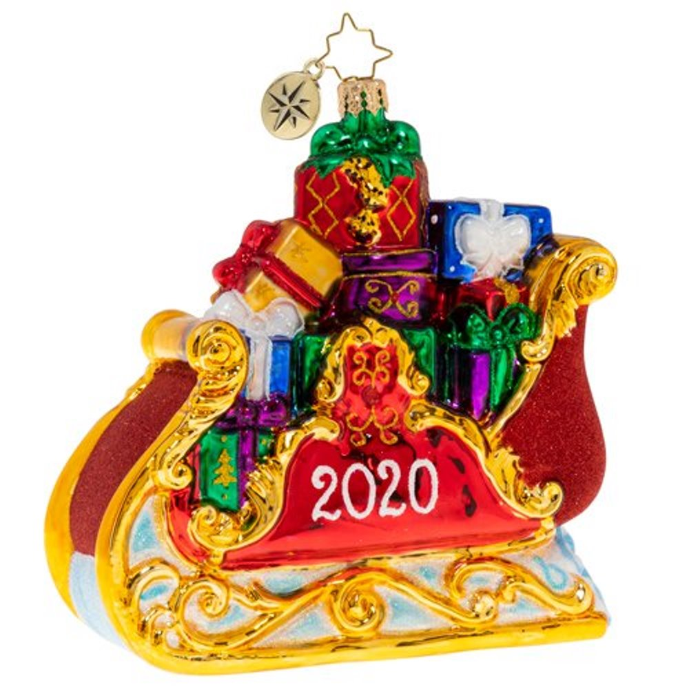 Christopher Radko Glass Ornament - Precious Cargo 2020