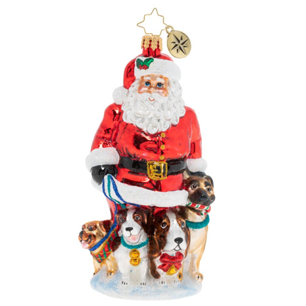 Christopher Radko Glass Ornament - Promenading Pups 2019