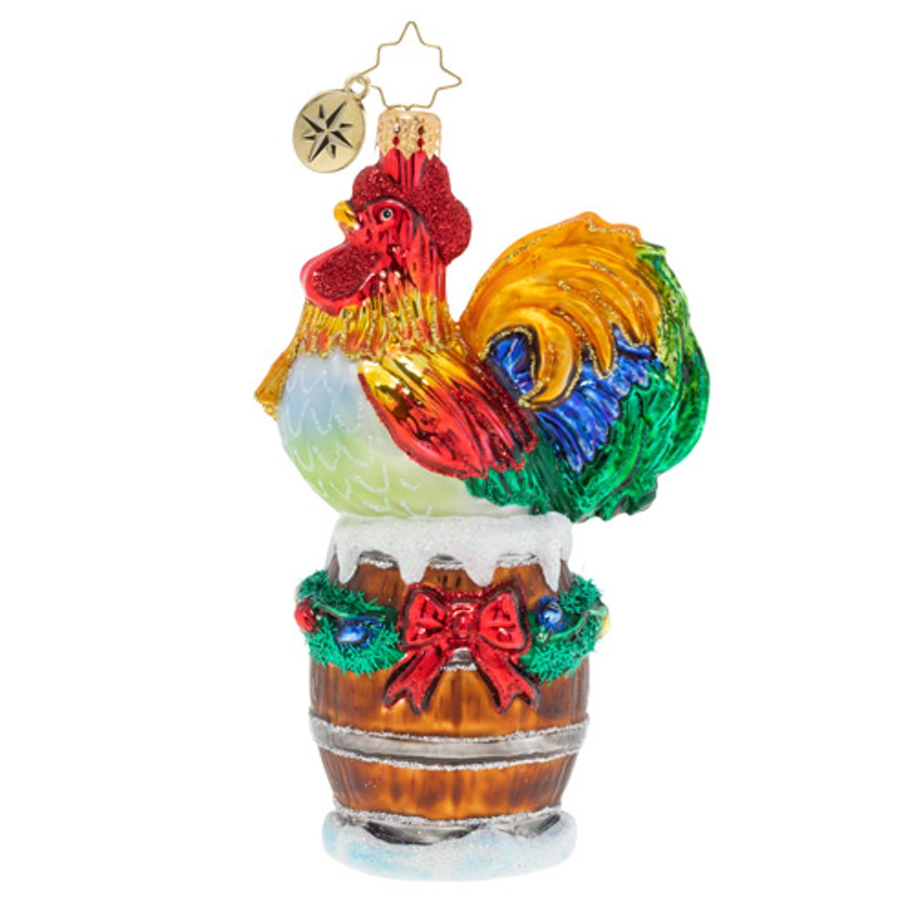 Christopher Radko Glass Ornament - Raise the Alarm Rooster 2019