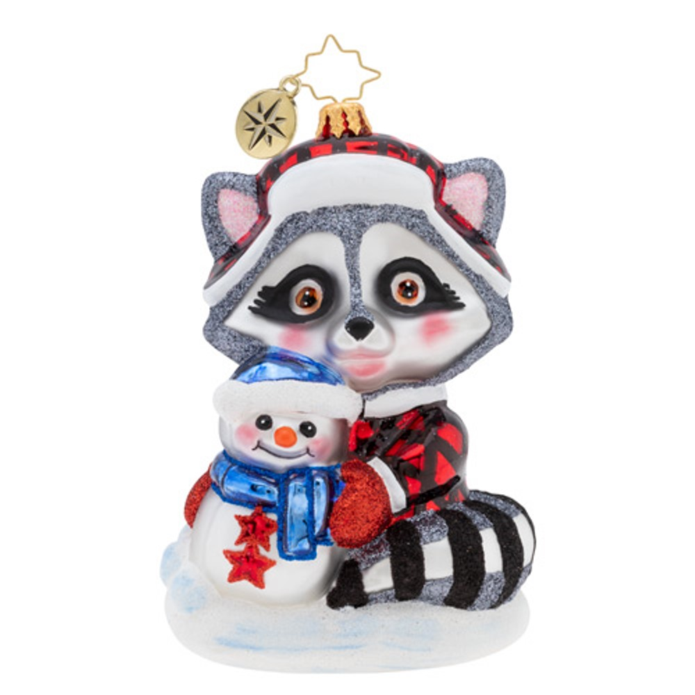 Christopher Radko Glass Ornament - Rambunctious Raccoon 2019