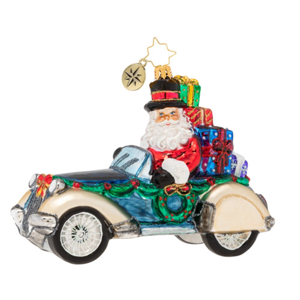 Christopher Radko Glass Ornament - Retro Roadster 2019