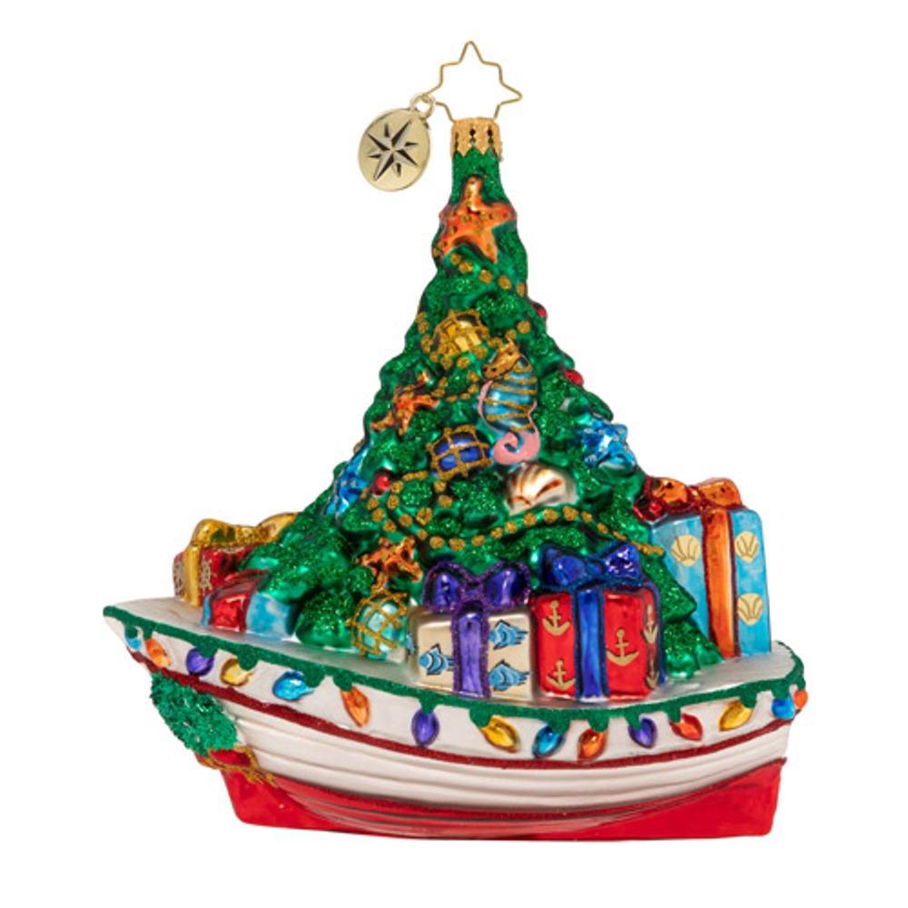 Christopher Radko Glass Ornament - Riding The Waves Of Christmas 2019