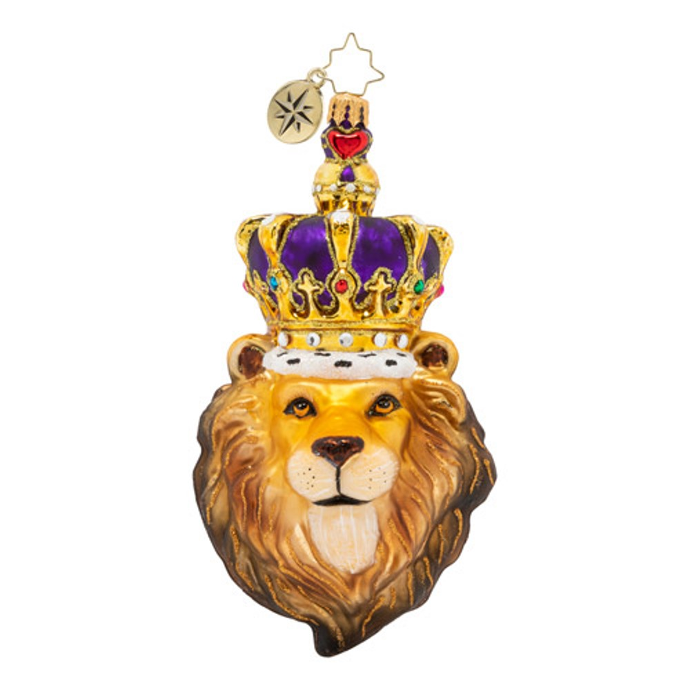 Christopher Radko Glass Ornament - Roaring Royalty 2020