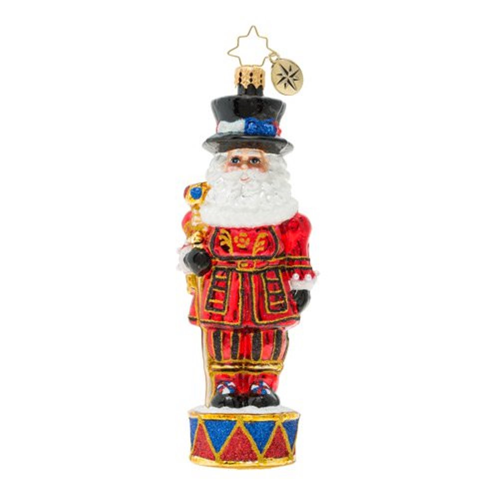 Christopher Radko Glass Ornament - Royal Beefeater Santa Guard 2019