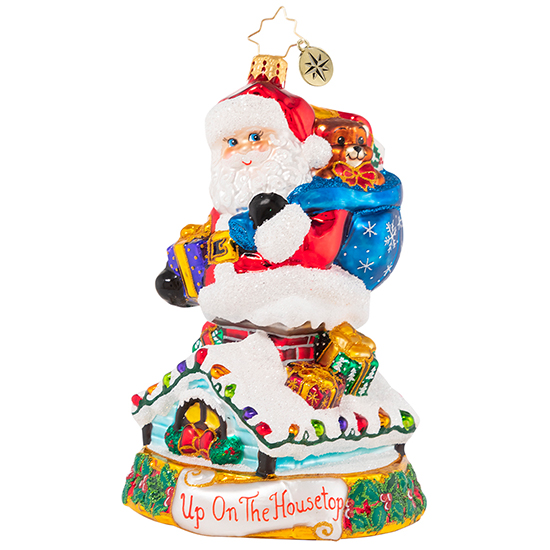 Christopher Radko Glass Ornament - Rumblings On The Rooftop 2021