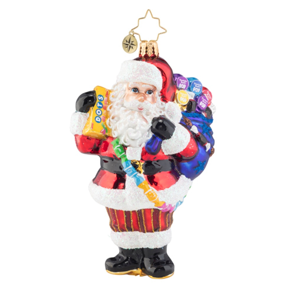 Christopher Radko Glass Ornament - Santa Has a Sweet Tooth 2019