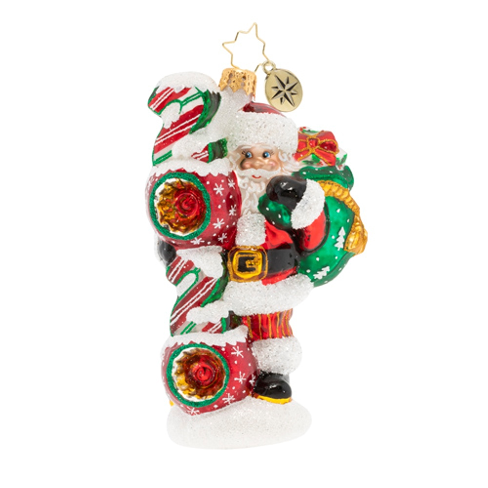 Christopher Radko Glass Ornament - Santa's 2020 Vision