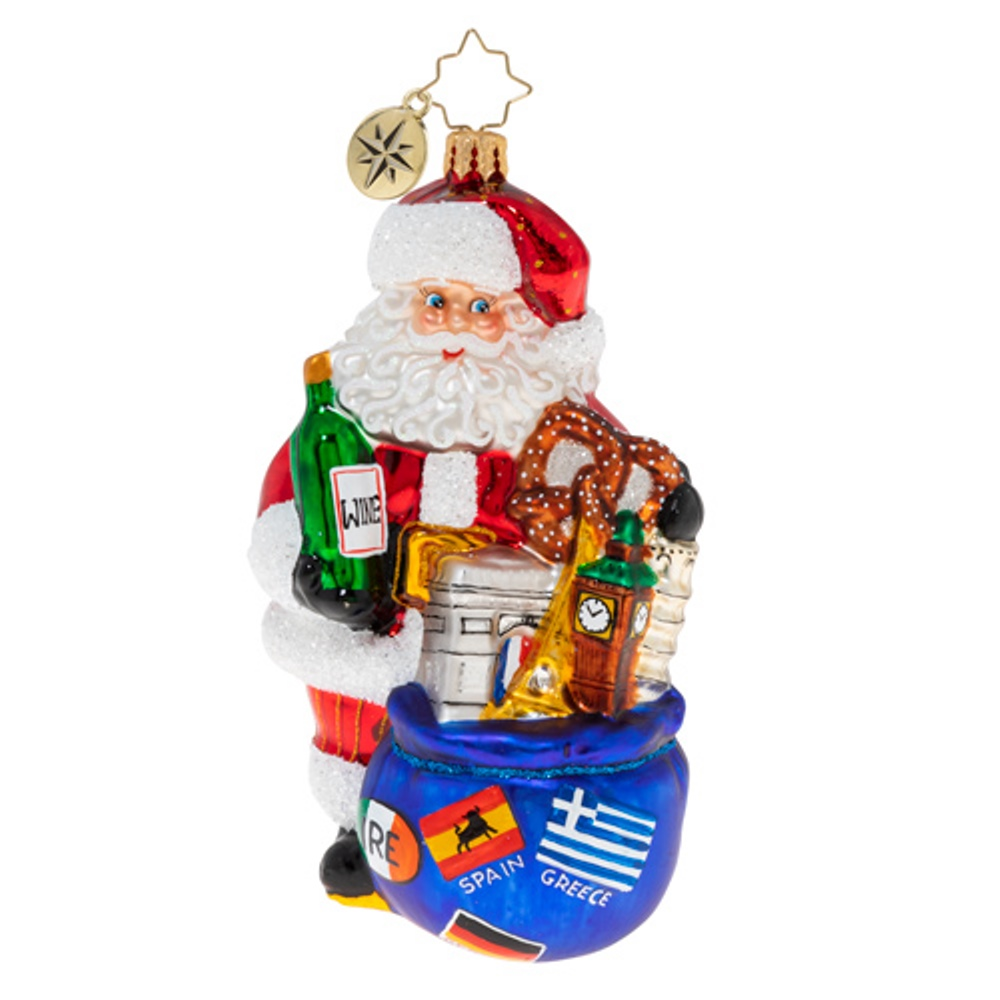 Christopher Radko Glass Ornament - Santa's European Adventure 2020