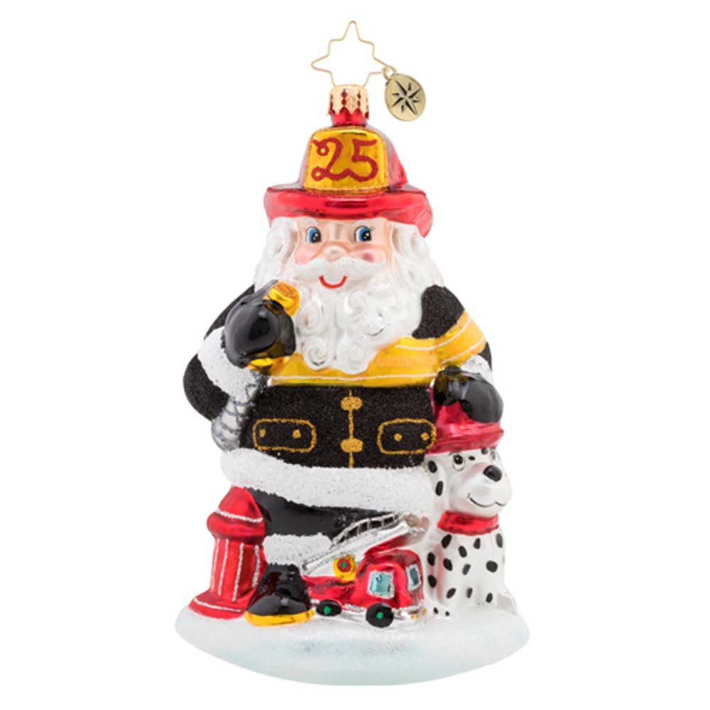 Christopher Radko Glass Ornament - Santa To The Rescue 2019