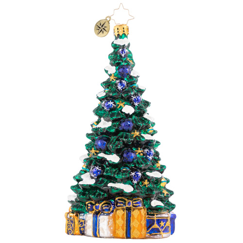 Christopher Radko Glass Ornament - Shimmering In Sapphire Limited 2021
