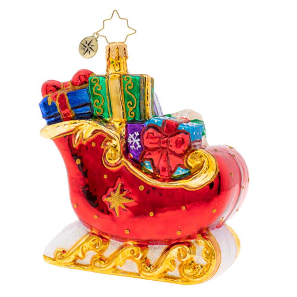 Christopher Radko Glass Ornament - Sleigh Full of Delights 2019