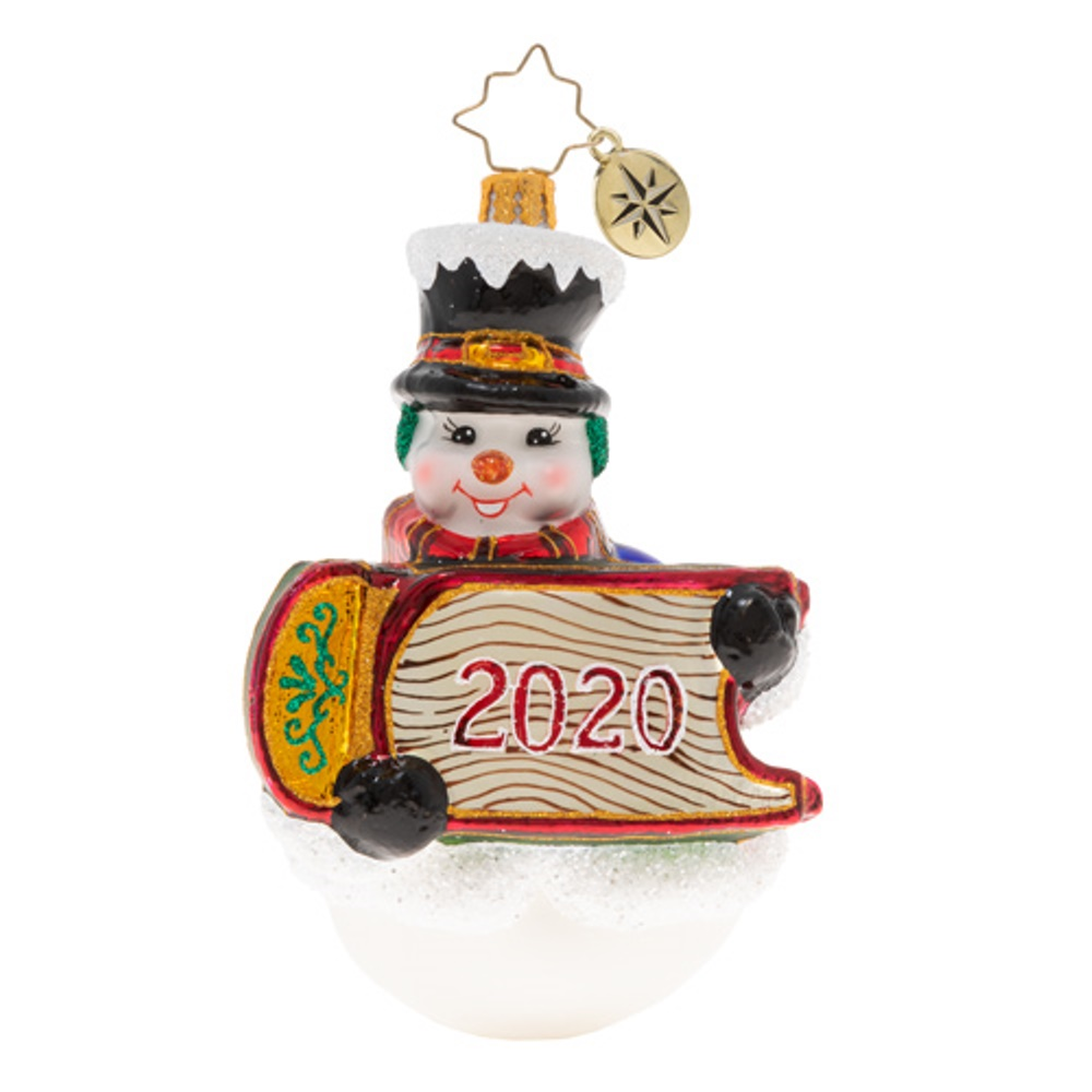 Christopher Radko Glass Ornament - Sleigh The Day Away 2020