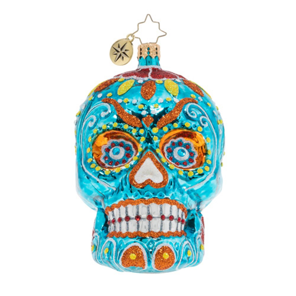 Christopher Radko Glass Ornament - Spooky La Calavera 2019