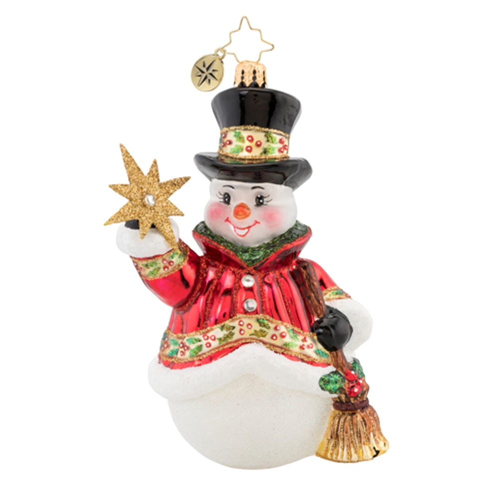 Christopher Radko Glass Ornament - Star Struck Snowman 2019