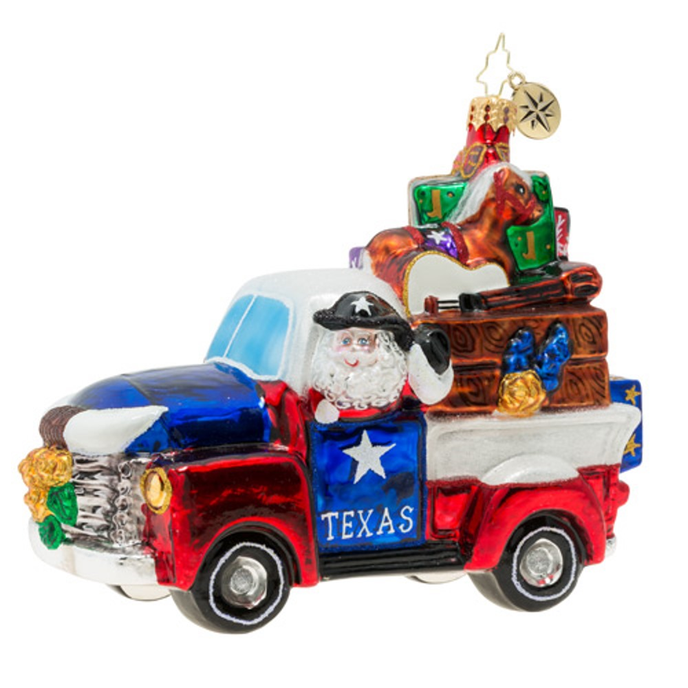 Christopher Radko Glass Ornament - Texas Treasures 2019