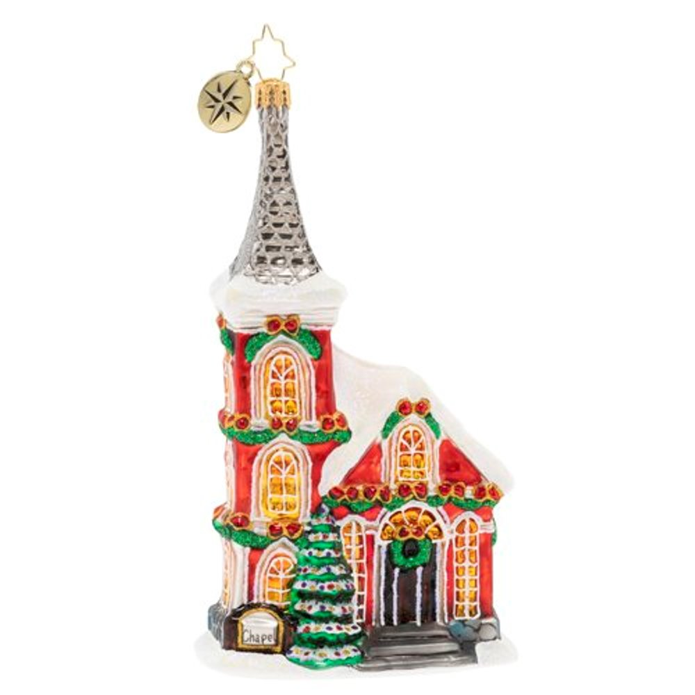 Christopher Radko Glass Ornament - The Charming Chapel 2020