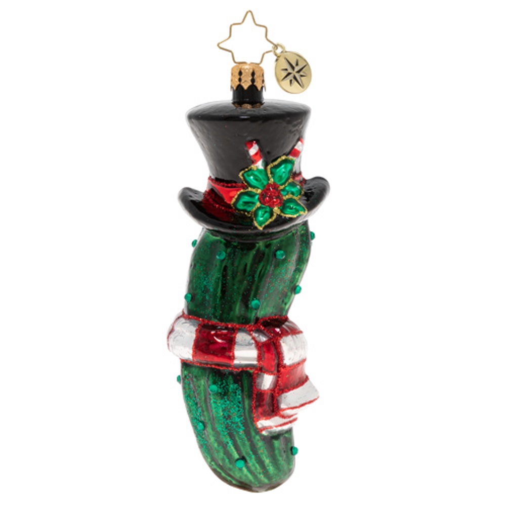 Christopher Radko Glass Ornament - The Christmas Pickle 2020