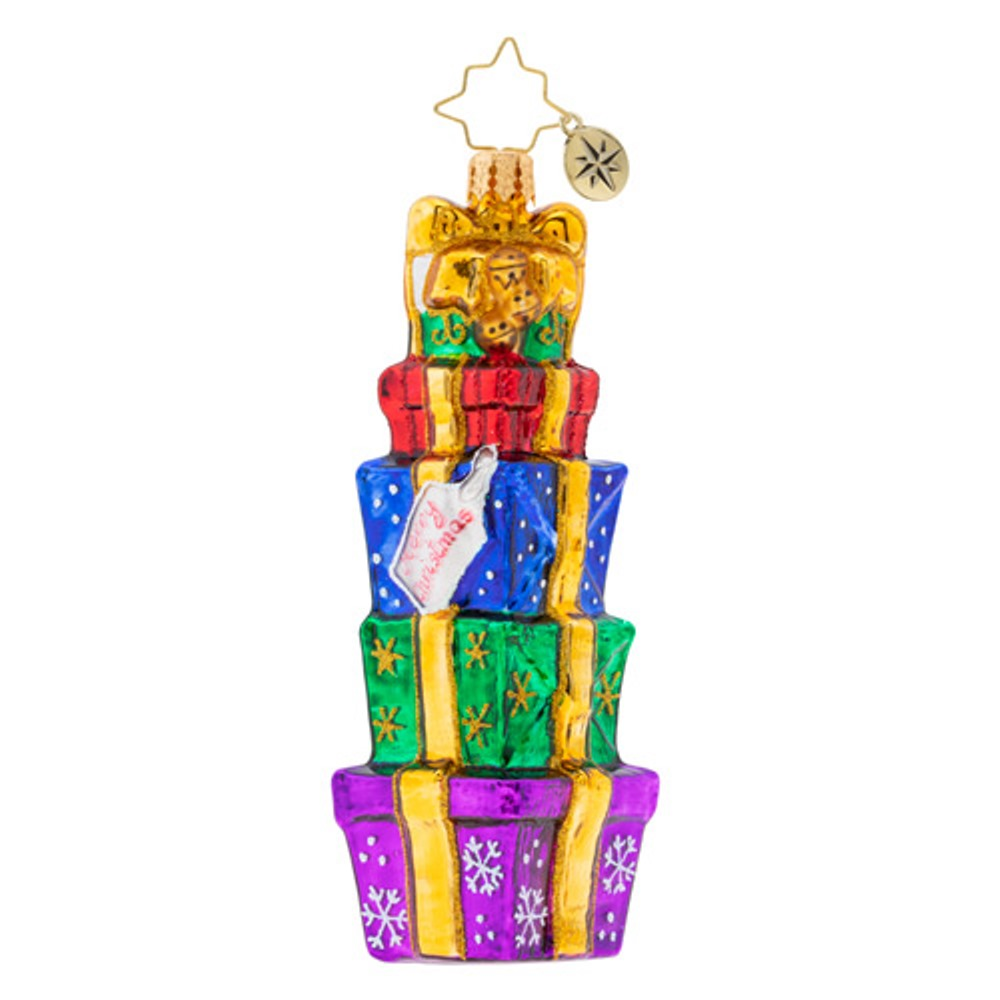 Christopher Radko Glass Ornament - Tower of Gifts 2019