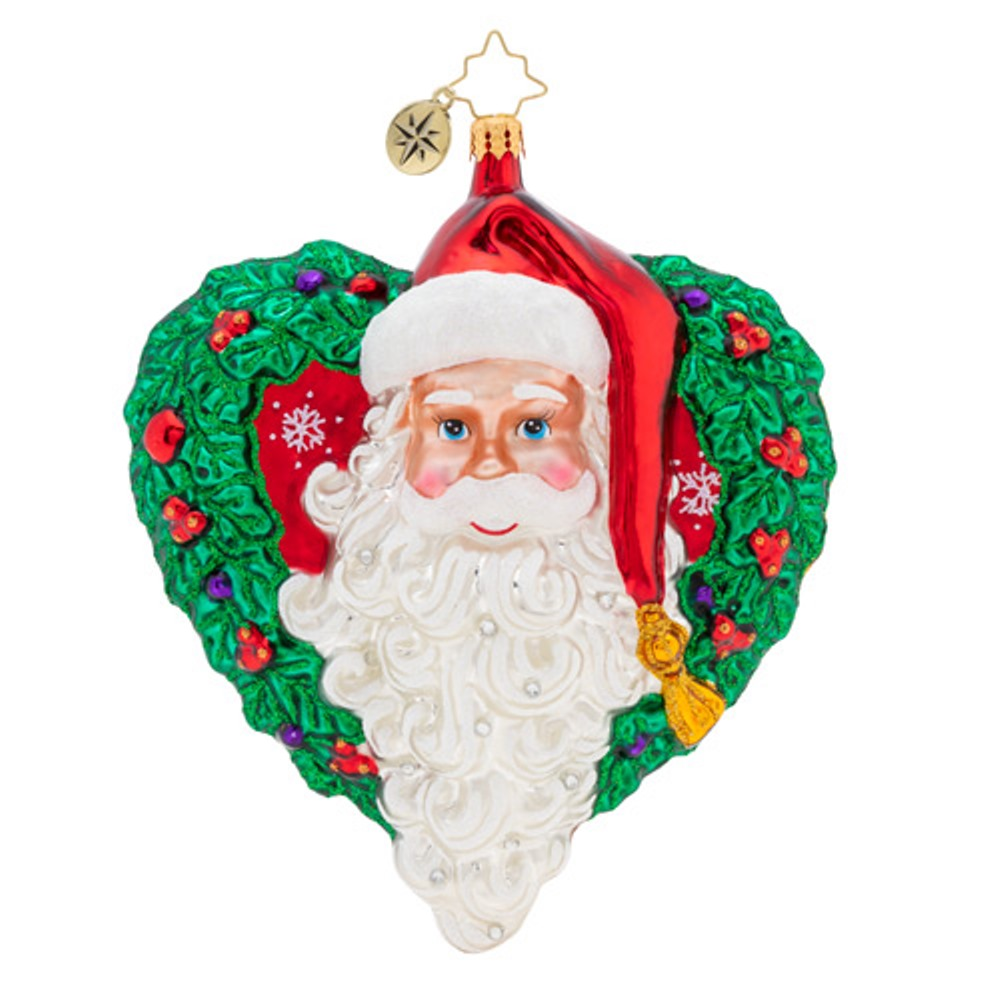 Christopher Radko Glass Ornament - With Love From Santa 2019