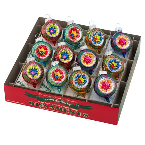 Christopher Radko Shiny Brite - Confetti Rounds - Set of 12