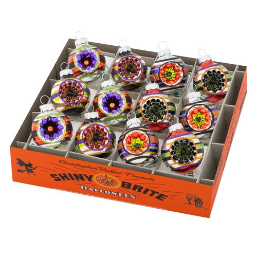 Christopher Radko Shiny Brite - Halloween Rounds - Set of 12