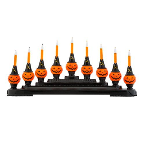 Christopher Radko Shiny Brite - Pumpkin Candolier - 9 Lights