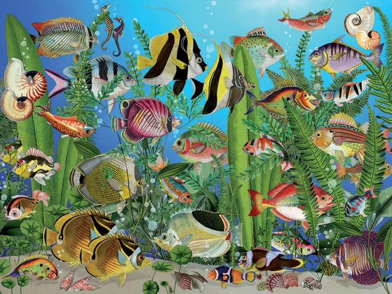 Cobble Hill Easy Handling Puzzle - 275pcs - Aquarium